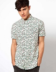 River Island Shirt with White Stalk Print