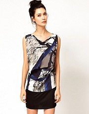 Edun Joshua Tree Print Banded Bottom Dress