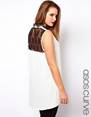 ASOS CURVE Exclusive Blouse With Lace Back