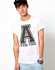 ASOS T-Shirt With A Is For 'Tude Print