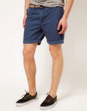 Image 1 ofSolid Belted Chino Short