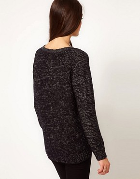 Image 2 ofWhistles Rita Lurex Trim Chunky Knit Sweater