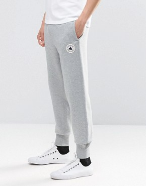 Converse Rib Cuff Patch Joggers In Grey 10002135-A01