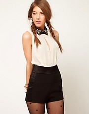ASOS Playsuit with Gem Collar