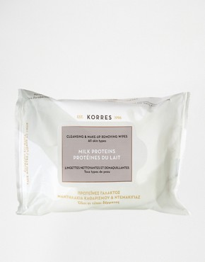 Image 1 ofKorres Milk Proteins Cleansing &amp; Make-Up Remover Wipes