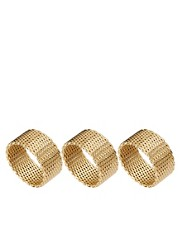 ASOS Multipack Chain Mesh Rings