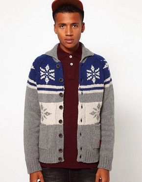 Image 1 ofFranklin &amp; Marshall Fairisle Cardigan