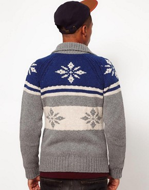 Image 2 ofFranklin &amp; Marshall Fairisle Cardigan
