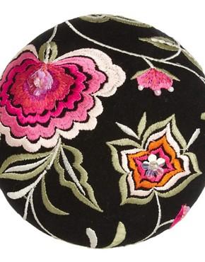 Image 3 ofPiers Atkinson For ASOS Floral Embroidery Mini Hat