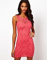 Lipsy Lace and Sequin Dress