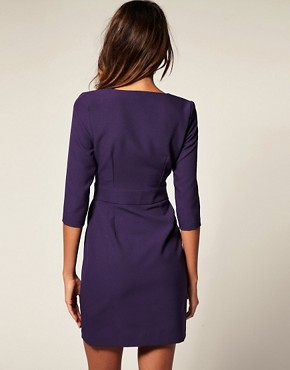 Image 2 ofASOS Wrap Pencil Dress with Fitted Skirt