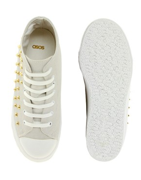Image 3 ofASOS DECORATE Studded Flatform High Tops