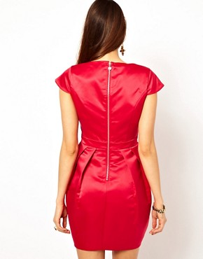 Image 2 ofLipsy Tulip Dress with Metal Belt