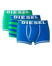 Diesel - Confezione da 3 paia di boxer aderenti a righe