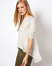 Karen Millen Jumper with A Woven Back Insert
