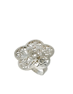 Image 1 ofDesignsix Filgree Flower Ring