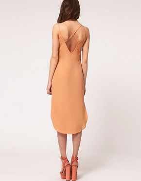 Image 2 ofASOS Slip Dress with Cross Back