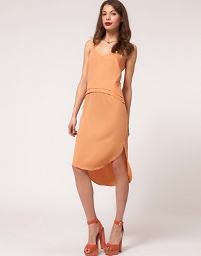 Image 1 ofASOS Slip Dress with Cross Back