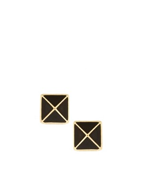 Image 1 of French Connection Exclusive To ASOS Pyramid Stud Earrings