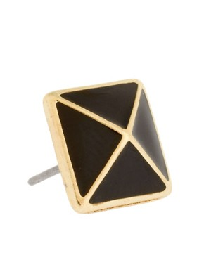 Image 3 of French Connection Exclusive To ASOS Pyramid Stud Earrings