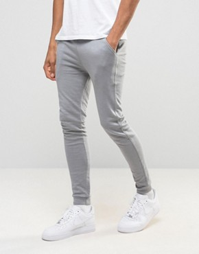 ASOS Super Skinny Joggers In Grey