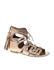 Kore By Sophia Kokosolaki Leather Flat Sandals