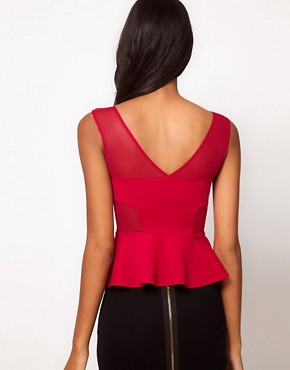 Image 2 ofOh My Love Mesh Peplum Top