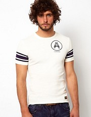 G Star T-Shirt A-Crotch Button Logo Print