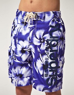 Image 1 ofSuperdry Hibiscus Board Shorts
