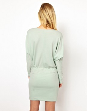 Image 2 ofSelected Sweat Dress with Pleat Detail