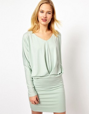 Image 1 ofSelected Sweat Dress with Pleat Detail