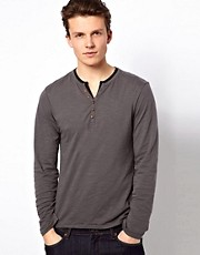 Esprit Long Sleeve Top With Double Layer Look