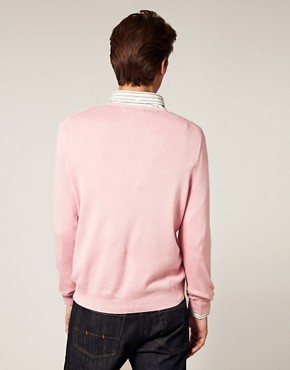 Image 2 ofPolo Ralph Lauren Pima Cotton V-Neck Jumper