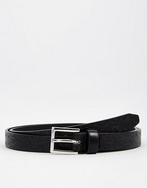 ASOS Smart Skinny Belt With Embossed Design