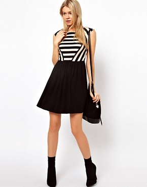 Image 4 ofOasis Stripe Skater Dress
