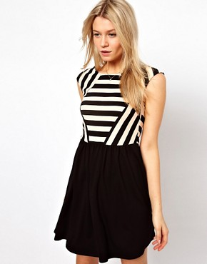 Image 1 ofOasis Stripe Skater Dress