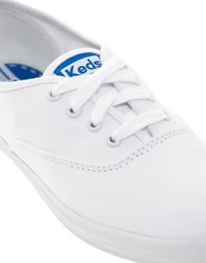 Image 2 ofKeds Classic White Plimsolls