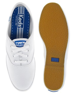 Image 3 ofKeds Classic White Plimsolls
