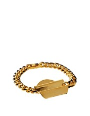Yasmin By Gogo Philip Chunky Chain Bracelet with Disc Design