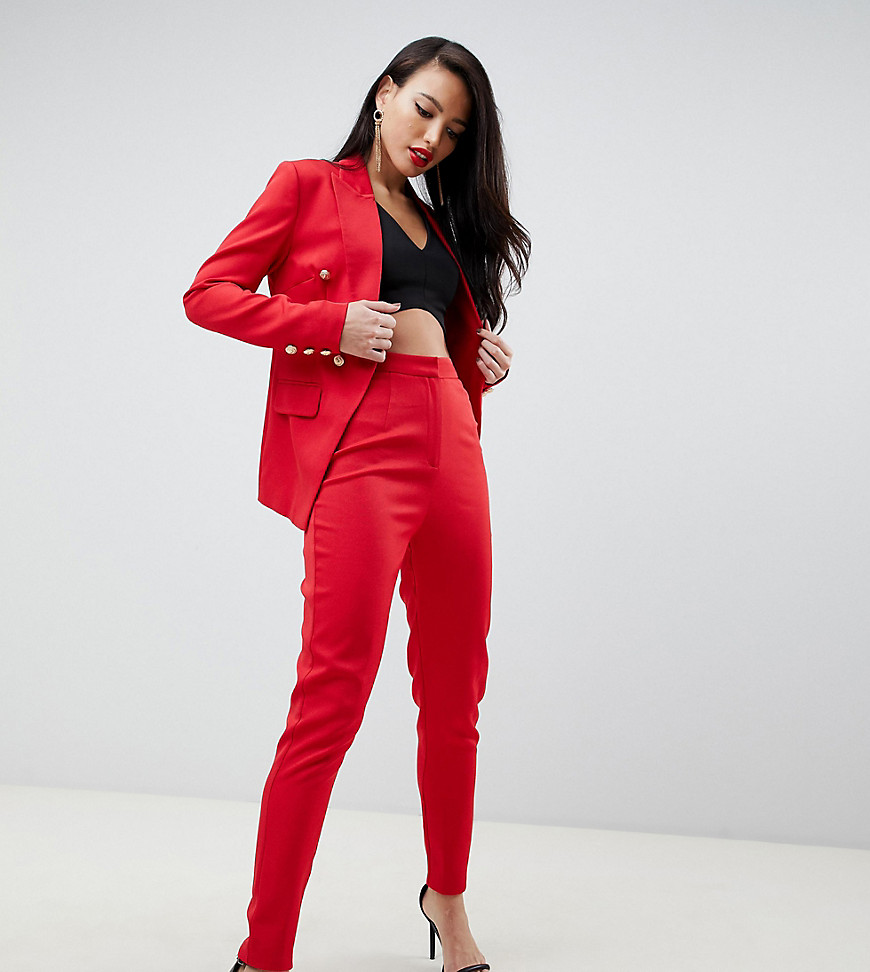 missguided tall - Exklusive Zigarettenhose in Rot - Rot