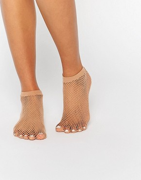 ASOS Nude Fishnet Ankle Sock