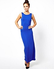 Glamorous Maxi Dress with Plunge V Back