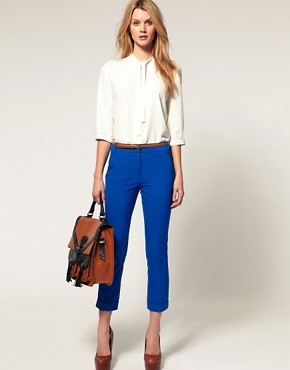 Image 1 of ASOS Jet Pocket Slim Cropped Trousers