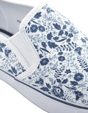 Image 2 ofASOS Plimsolls with Floral Print