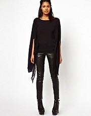 Unconditional Short Sleeved Cape Scarf Jumper