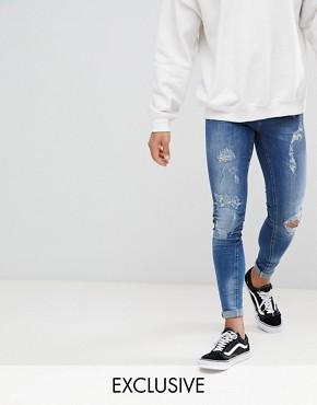 Рваные супероблегающие джинсы Blend Flurry - Темно-синий