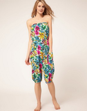 Image 1 ofMarc By Marc Jacobs Havana Floral Playsuit