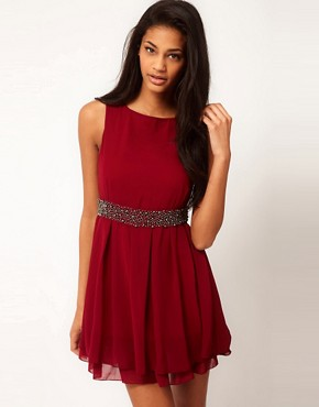 Image 1 ofTFNC Skater Dress with Bauble Embellishment