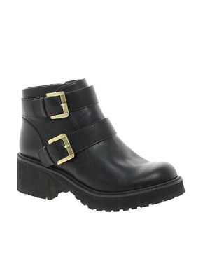 Image 1 ofASOS AMBITION Biker Boots