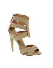 L.A.M.B Mirage Leather Heeled Sandal